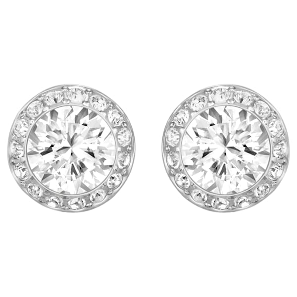 swarovski angelic pierced earrings white rhodium plated swarovski 1081942