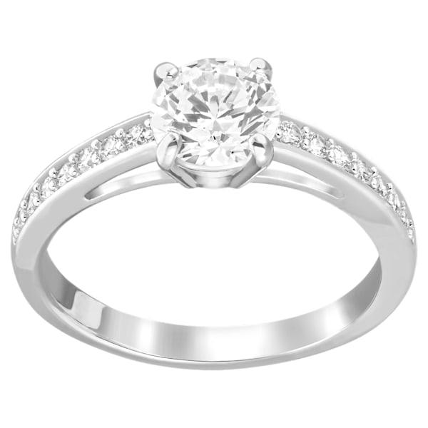 swarovski attract ring round pavé white rhodium plated swarovski 5032921