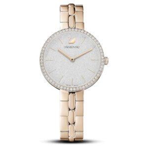 swarovski cosmopolitan watch metal bracelet white champagne gold tone pvd 5517794