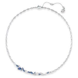 swarovski louison necklace blue rhodium plated 5536547