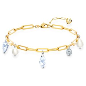 swarovski so cool charm bracelet white mixed metal finish swarovski 5522861