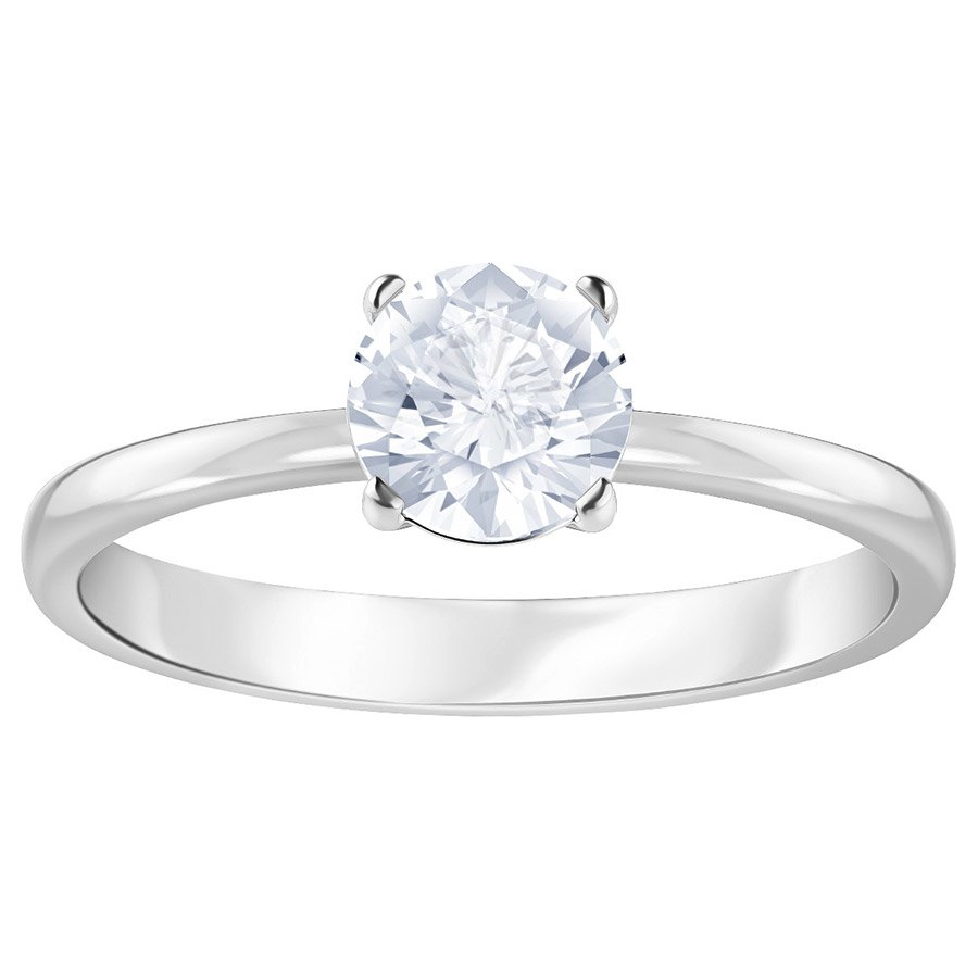 Lifelong Heart ring, White, Rhodium plated | A Crystal World