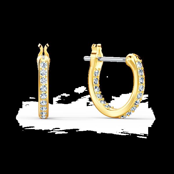 Swarovski Symbolic Lotus Pierced Earrings, Green, Gold-tone plated 5522840