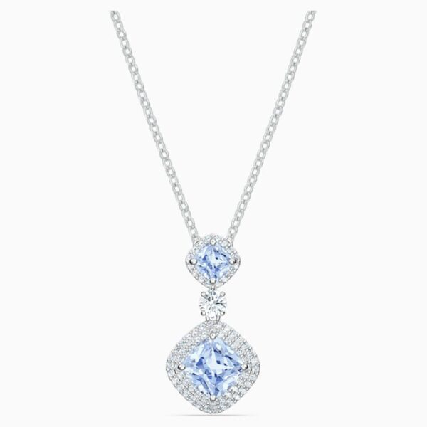 swarovski angelic necklace blue rhodium plated swarovski 5559381