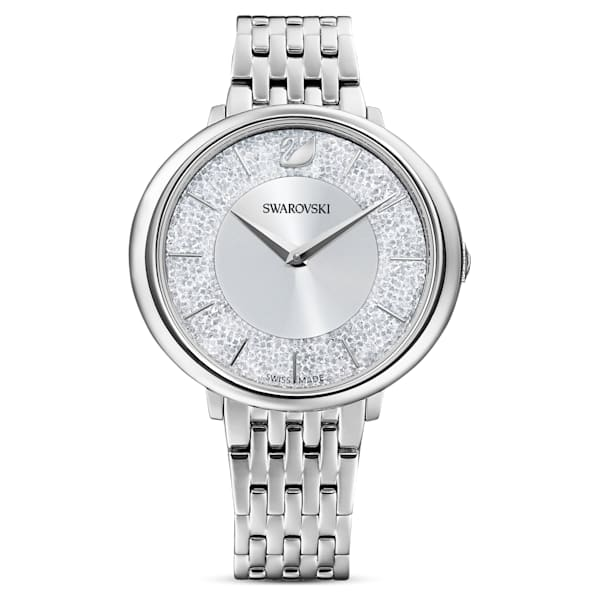 swarovski crystalline chic watch metal bracelet silver tone stainless steel swarovski 5544583