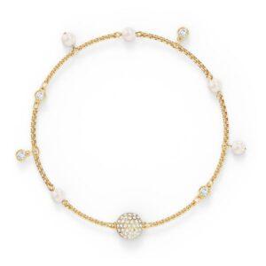 swarovski remix collection delicate pearl strand white gold tone plated swarovski 5556904