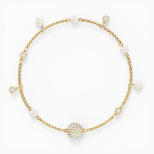 swarovski remix collection delicate pearl strand white gold tone plated swarovski 5556904