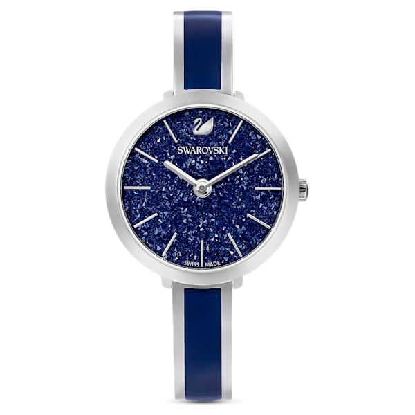 swarovski crystalline delight watch metal bracelet blue stainless steel swarovski 5580533