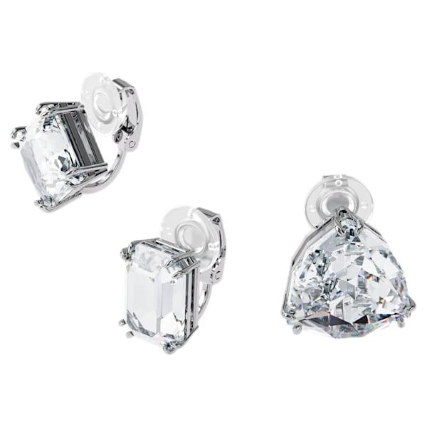 swarovski millenia clip earring single set white rhodium plated swarovski 5602413