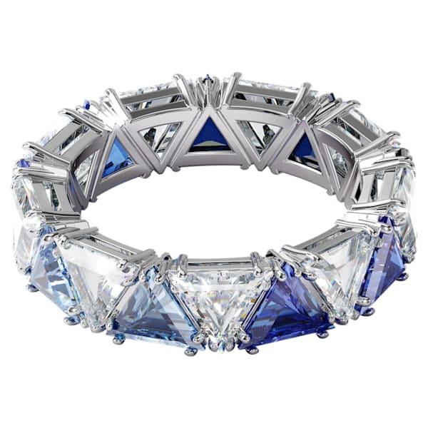 swarovski millenia cocktail ring triangle cut crystals blue rhodium plated swarovski 5608528
