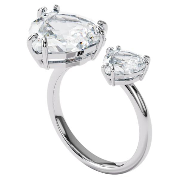 swarovski millenia cocktail ring triangle cut crystals white rhodium plated swarovski 5602847
