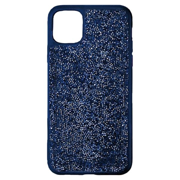 swarovski glam rock smartphone case with bumper iphone® 12 mini blue swarovski 5599173