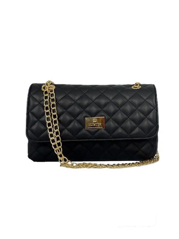Γυναικεία τσάντα ώμου flap Ariadne SS21 Μαύρο