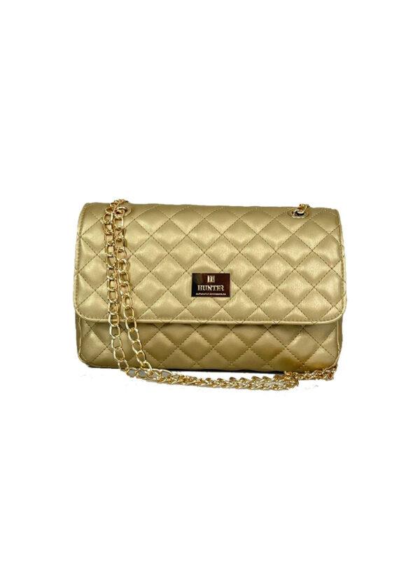 Γυναικεία τσάντα ώμου flap Ariadne SS21 Χρυσό