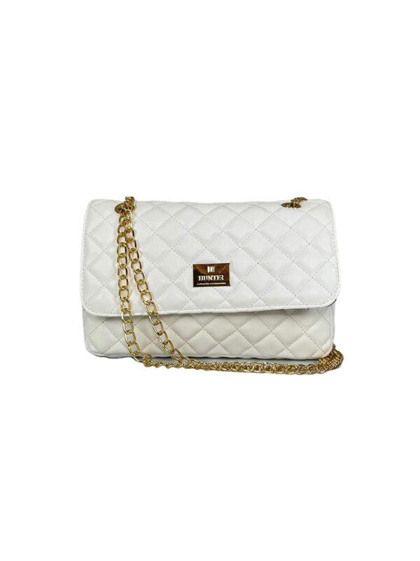 Γυναικεία τσάντα ώμου flap Ariadne SS21 Λευκό