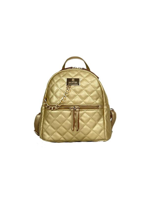 Γυναικεία τσάντα πλάτης μικρή Ariadne SS21 Χρυσό
