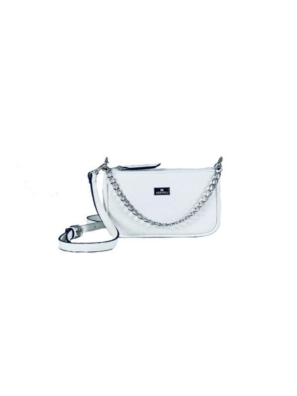 Γυναικεία τσάντα χιαστί Dahlia Λευκό