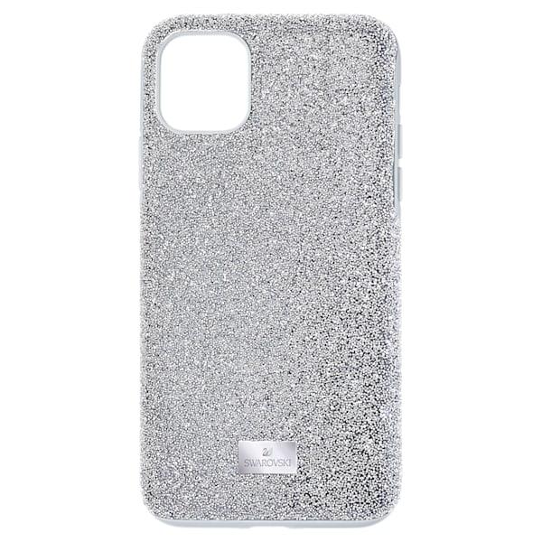 swarovski high smartphone case iphone® 12 mini silver tone swarovski 5574042