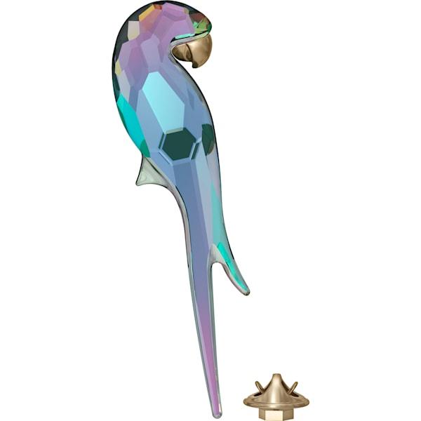 swarovski jungle beats parrot magnet shiny green large swarovski 5572152