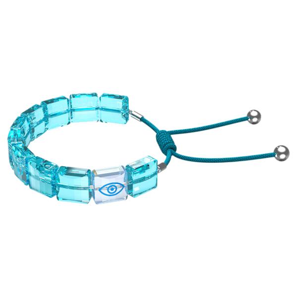 swarovski letra bracelet evil eye blue rhodium plated swarovski 5614971
