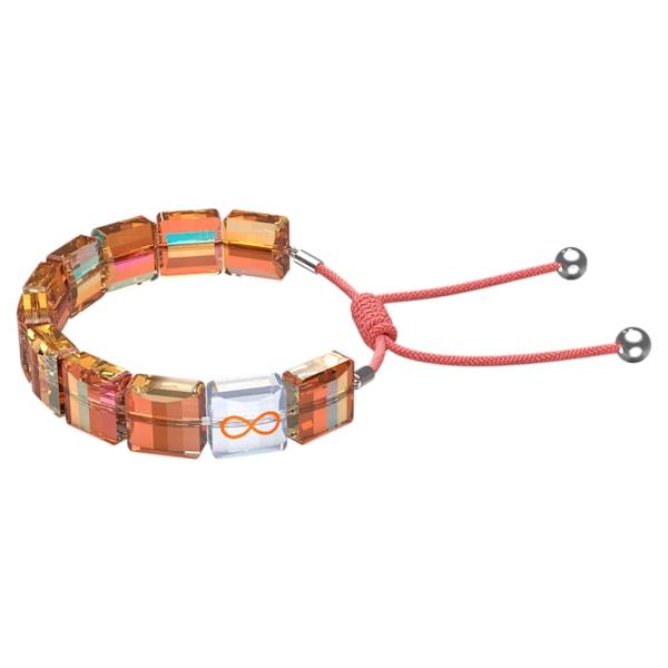 swarovski letra bracelet infinity orange rhodium plated swarovski 5615002