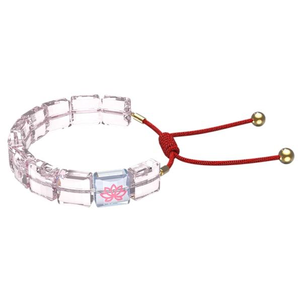 swarovski letra bracelet lotus pink gold tone plated swarovski 5614974